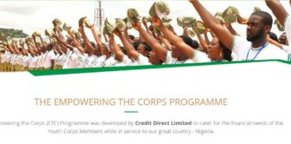 Over the years, corps members from different parts of the country face various financial challenges when they are being deployed to another state. Credit Direct Ltd partnered with NYSC scheme to help all serving corps members get quick NYSC loan that will solve recurring financial dilemma when posted..