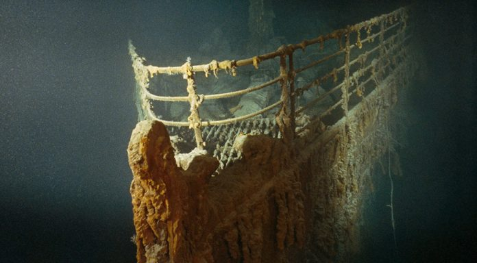 The Titanic has sat 3,800 meters below the surface of the North Atlantic Ocean since hitting an iceberg and sinking in 1912.
