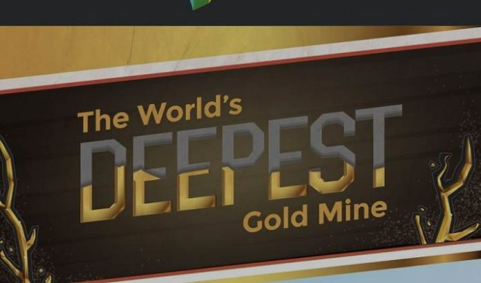 Gold is one of the most sought-after metals in the world, and it's clear that humans will do almost anything to get their hands on it. The world's deepest gold mine, Mponeng, is one such example. Mponeng's mine shaft goes over 2.5 miles deep underground equivalent to 10 Empire State Buildings stacked.