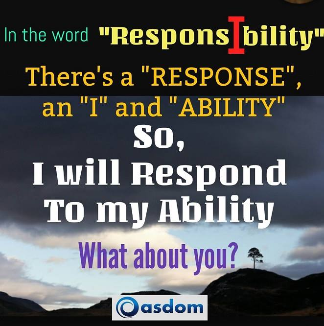 responsibility and self-reliance