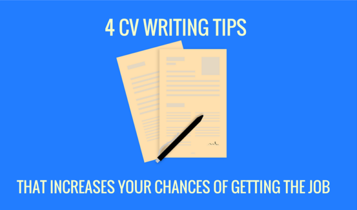 CV writing is a must for any one who want's an opportunity to be interviewed. There are tons of sample CV's out there but here are 4 CV writing tips to note