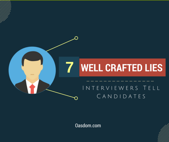 Do job interviewers lie? While job candidates try to give their best, giving answers to interview questions, there are more things than the questions. Read.