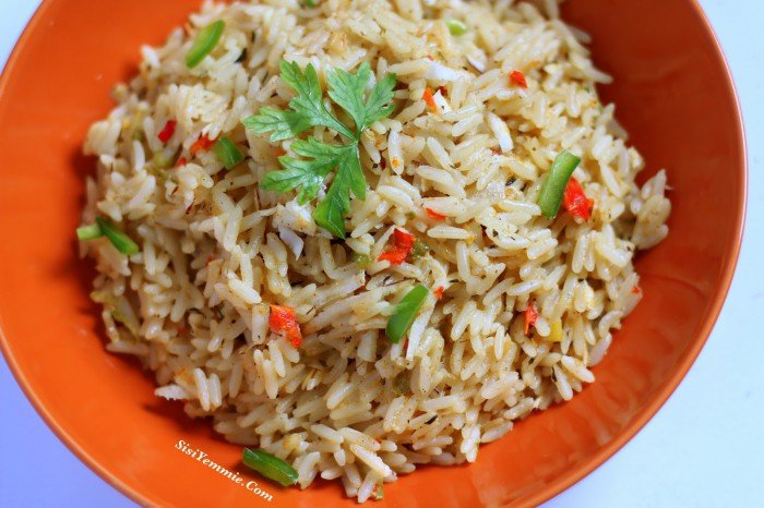 Nigerian dishes and meal - coconut rice