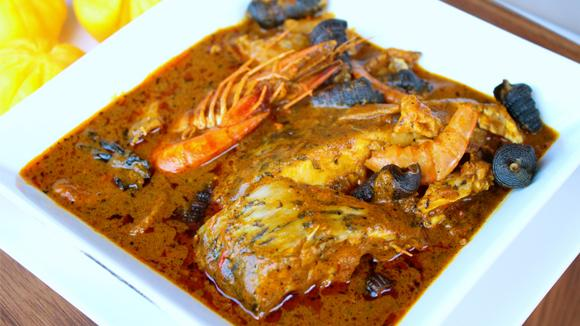 Nigerian food banga-soup