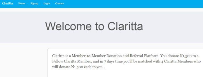 claritta current ponzi scheme