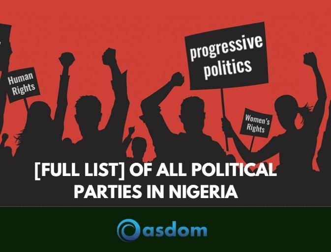 How many political parties do we have in Nigeria? See latest on 91 List of political parties in Nigeria 2019 and their symbols, slogans and logos