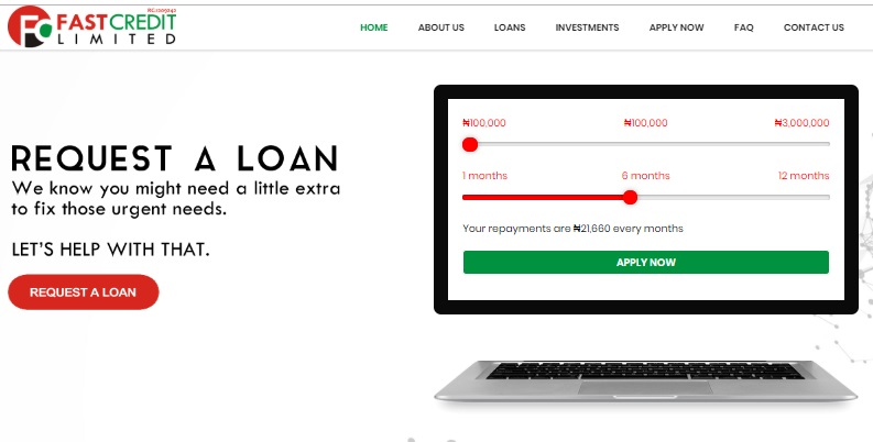 Fast Credit loan sites in Nigeria