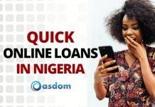 Girl using mobile phone to get quick online loans in Nigeria without collateral