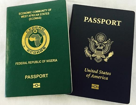 Nigerian international passport - federal republic of Nigeria
