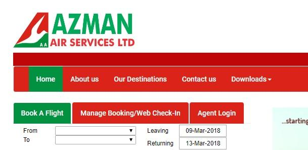 domestic airlines in nigeria - azman airlines