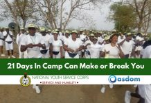 Oasdom.com 21 days in Nysc camp can make or break you 2018
