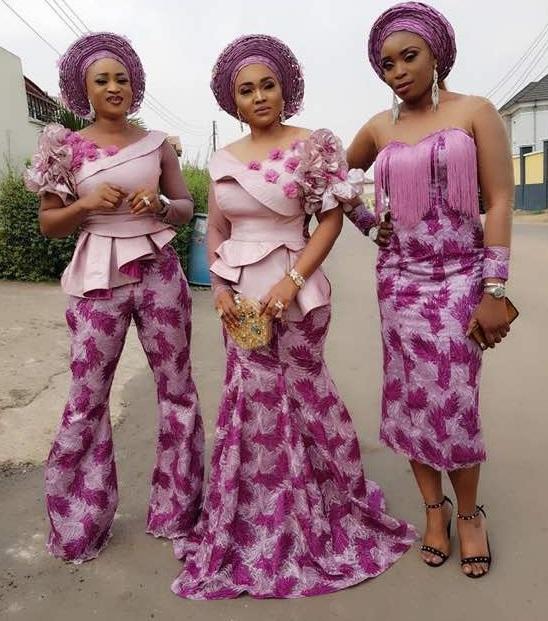 Aso ebi lace styles in Nigeria