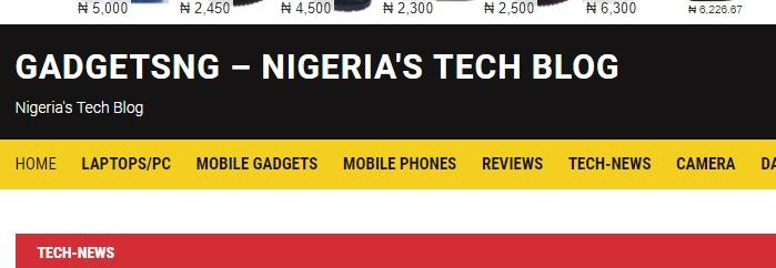 Nigeria's tech blog Gadgetsng