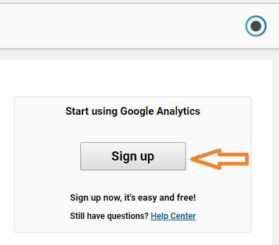 signup for google analytics tool