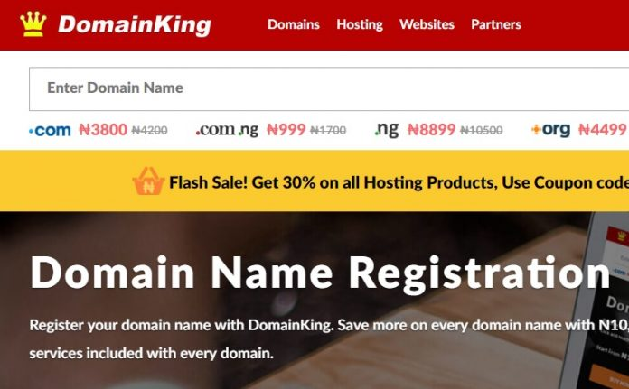 Oasdom.com sponsored domainking.ng hosting and registration