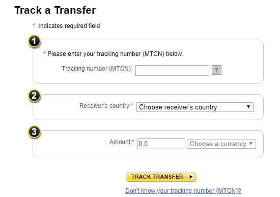 western union money tracking to track money sent