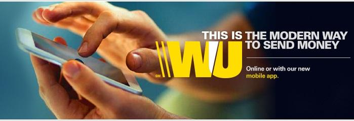 western union mobile app to send money online