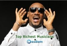 Full list of top 10 richest musician in Nigeria 2019