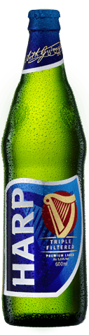 Harp beer by guiness brand