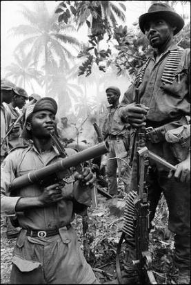 Biafran soldiers - Nigerian civil war
