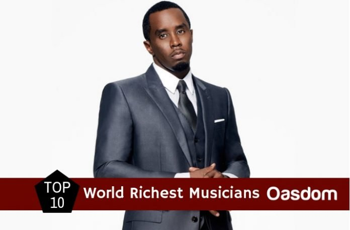The top 10 richest musician in the world