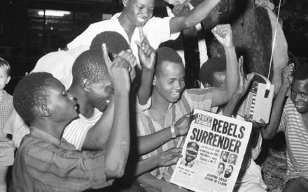 Surrender of biafra in the civil war