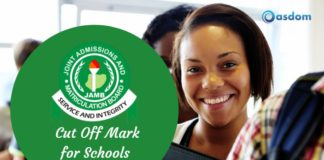 Oasdom.com Universities Jamb cut off marks for schools in Nigeria Polytechnics and colleges