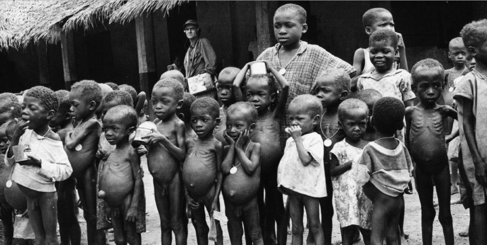 starving biafra kids in the nigerian civil war pictures
