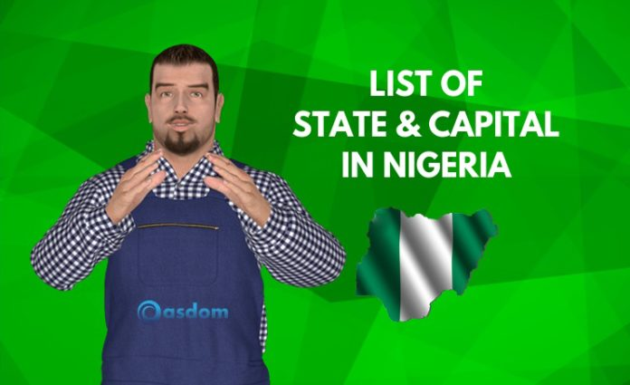 Oasdom.com Acurate list of state and capital in Nigeria Nigeria map with states