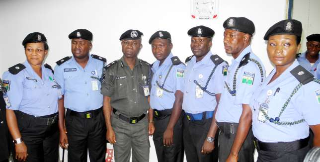 Nigeria police new uniform blue on black