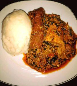 how to make nigeria egusi soup with pounded yam