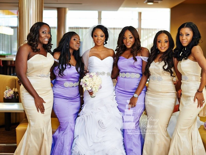 Chief bridesmaid dresses in Nigeria
