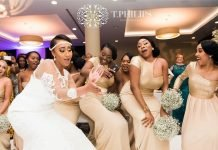 Latest bridesmaid dresses in Nigeria and bridal train styles