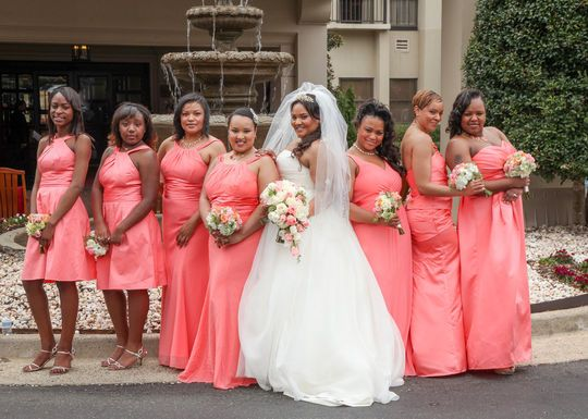 coral pink bridesmaid dresses in Nigeria