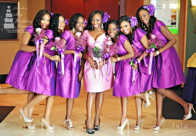 oasdom purple Nigerian bridesmaid dress