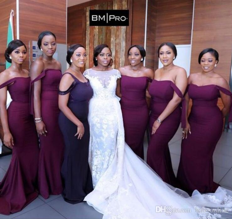 off shoulder bridesmaid dresses in Nigeria
