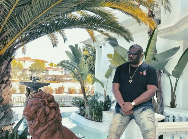 Don Jazzy in his Los Angeles home