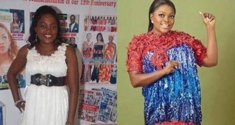 Funke Akindele with 10 years challenge