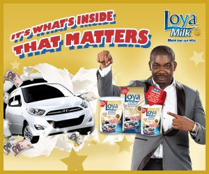 Don Jazzy as Loya milk Ambassador