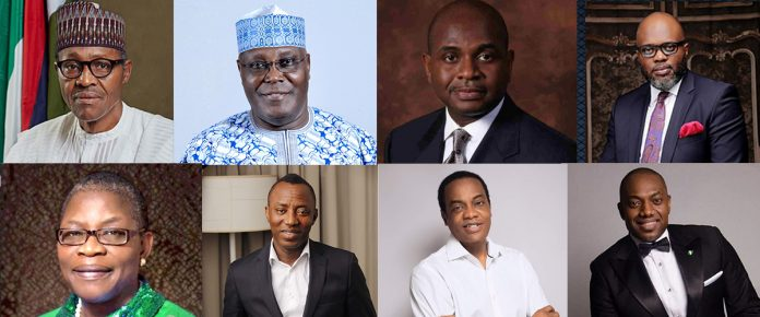 2019 presidential candidates - Nigeria general election