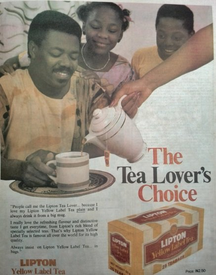 Lipton Yellow label tea newspaper advert