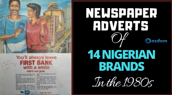Oasdom Nigerian Brands adverts in the 1980s and 1990s