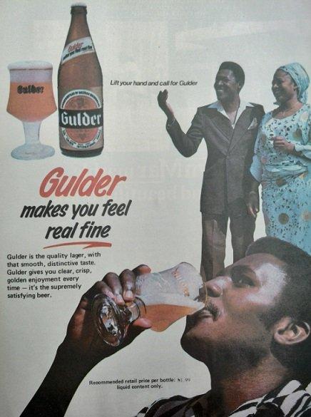 Nigerian brands - Gulder larger beer