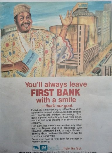 Nigerian brands adverts - first bank