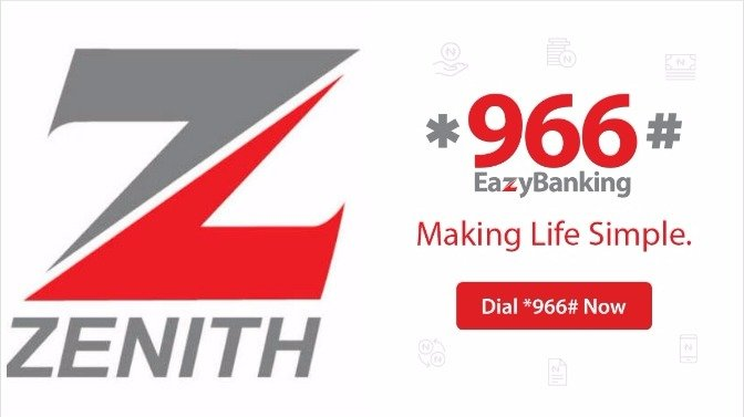 zennith bank mobile app - USSD Code - classification of banks in Nigeria
