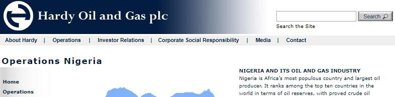 Nigerian crude oil companies - Hardy oil