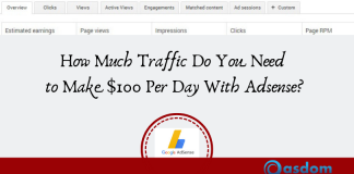 $100 per day with adsense