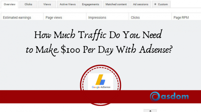 100 per day with adsense