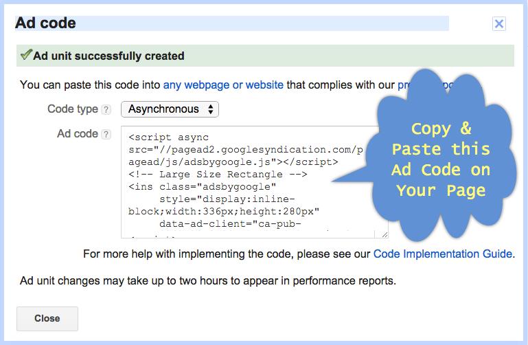 Generating-AdSense-Ad-Code