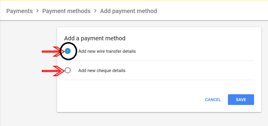 Google ads payment-method